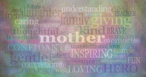 Insegna del fondo di festa della Mamma Immagine Stock