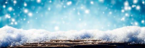 Insegna del fondo di inverno di Snowy fotografie stock