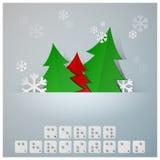 Insegna del fondo di Natale di alfabeto di Braille con il grafico di carta Immagine Stock
