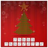 Insegna del fondo di Natale di alfabeto di Braille con il grafico di carta Fotografia Stock
