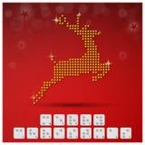 Insegna del fondo di Natale di alfabeto di Braille con il grafico di carta Fotografie Stock