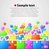 Insegna del fondo di puzzle Immagine Stock