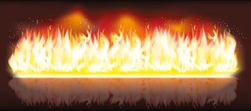 Insegna del fuoco della fiamma dell'ustione Immagini Stock Libere da Diritti