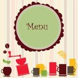 Insegna del menu Fotografia Stock