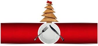 Insegna del menu del ristorante di Natale royalty illustrazione gratis