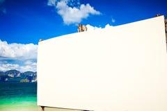 Insegna del menu della barra della spiaggia Fotografia Stock Libera da Diritti