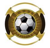 Insegna del pallone da calcio Fotografia Stock