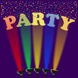 Insegna del partito, partito della celebrità illustrazione di stock