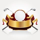 Insegna del premio di golf Fotografia Stock Libera da Diritti