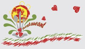 Insegna del ristorante Immagine Stock