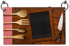 Insegna del ristorante con il percorso di ritaglio Fotografia Stock Libera da Diritti
