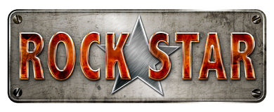 Insegna del rock star Immagine Stock Libera da Diritti