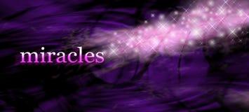 Insegna del sito Web del fondo di miracoli Immagini Stock Libere da Diritti