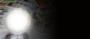 Insegna del sito Web del lettore dei tarocchi immagini stock libere da diritti