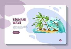 Insegna del sito Web di disastri naturali royalty illustrazione gratis