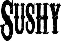 Insegna del testo di Sushy Fotografie Stock Libere da Diritti