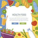 Insegna dell'alimento salutare royalty illustrazione gratis
