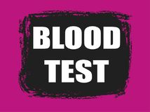 Insegna dell'analisi del sangue Fotografia Stock
