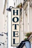 Insegna dell'hotel Immagini Stock Libere da Diritti