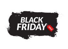 Insegna dell'inchiostro dell'estratto di vendita di Black Friday Modello per l'insegna o il manifesto Black Friday Progettazione  Fotografia Stock Libera da Diritti