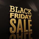 Insegna dell'iscrizione dell'oro di vendita di Black Friday Immagini Stock Libere da Diritti