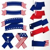 Insegna della bandiera di U.S.A. illustrazione vettoriale