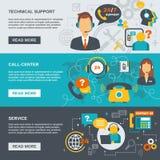 Insegna della call center di sostegno Immagine Stock Libera da Diritti