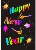 Insegna della carta della carta da parati di celebrazioni del nuovo anno Immagine Stock Libera da Diritti