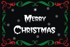 Insegna della carta di Buon Natale Fotografia Stock