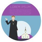 Insegna della chiesa cattolica Fotografie Stock Libere da Diritti