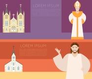 Insegna della chiesa cattolica Immagine Stock