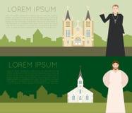 Insegna della chiesa cattolica Fotografia Stock Libera da Diritti
