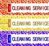 Insegna della compagnia di servizi di pulizia Illustrazione 2 di vettore Immagine Stock