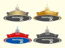 Insegna della costruzione del Campidoglio del Washington DC fotografia stock