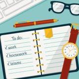 Insegna della gestione di tempo Vector il concetto background Fotografie Stock