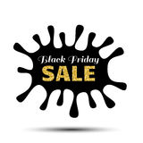 Insegna della macchia di vendita di Black Friday Immagine Stock
