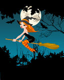 Insegna della strega di Halloween Immagini Stock