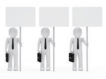 Insegna della stretta degli uomini d'affari Immagini Stock