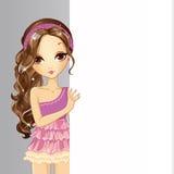 Insegna della tenuta della ragazza royalty illustrazione gratis