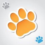 Insegna della zampa del gatto Fotografia Stock