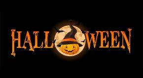 Insegna della zucca di Halloween Fotografia Stock