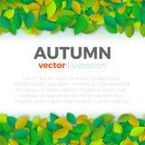 Insegna delle foglie di autunno Immagine Stock Libera da Diritti