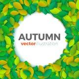Insegna delle foglie di autunno Fotografia Stock Libera da Diritti
