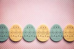 Insegna delle uova di Pasqua Fotografie Stock Libere da Diritti