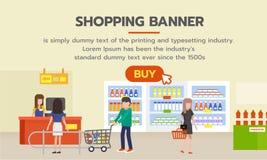 Insegna di acquisto con il bottone dell'affare per la compera online Fotografia Stock Libera da Diritti