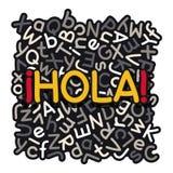 Insegna di apprendimento delle lingue spagnole Immagine Stock