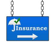 Insegna di assicurazione illustrazione di stock