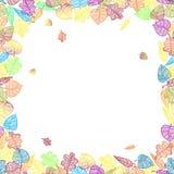 Insegna di autunno con le foglie variopinte. Royalty Illustrazione gratis
