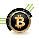 Insegna di Bitcoin Fotografia Stock Libera da Diritti