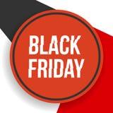Insegna di Black Friday con le forme geometriche Fotografia Stock